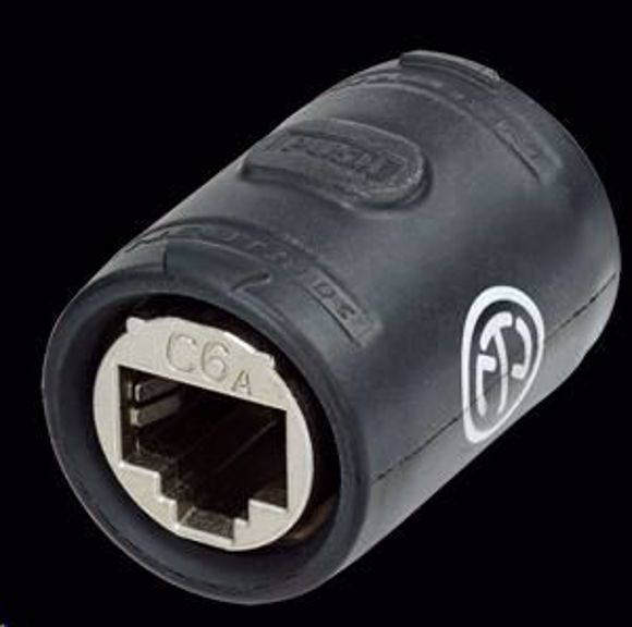 Cable Extensions Neutrik NE8FFX6-W CAT6a etherCON RJ45 feedthro Coupler Adaptor